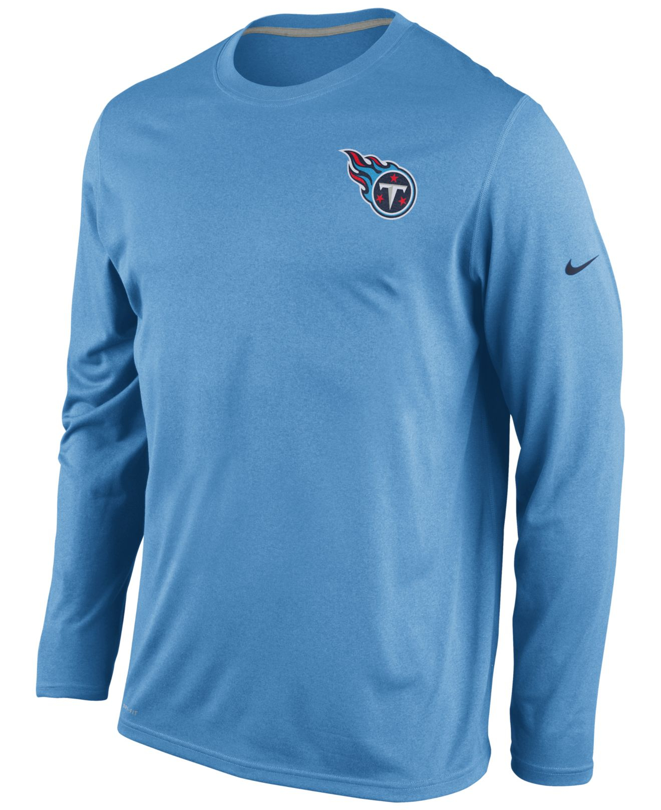 ... Nike MenS Long-Sleeve Tennessee Titans Dri-Fit T-Shirt in Bl ... b907e2f35