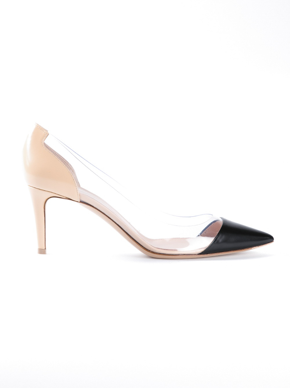 be84e860d0f Gianvito Rossi 70mm Plexy Combo Pump in Black - Lyst