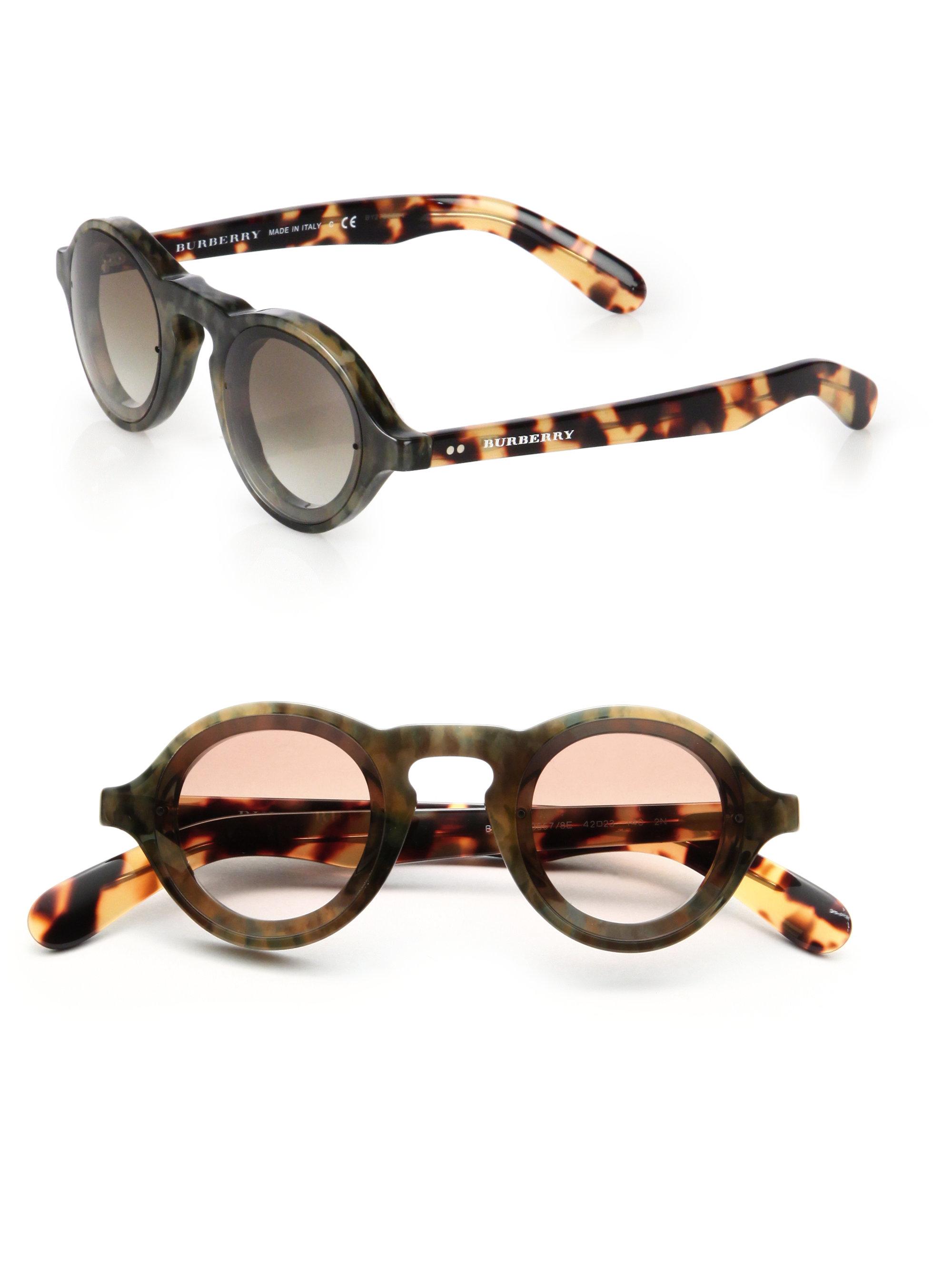 a77165d6a2 Burberry Green 42mm Round Acetate Sunglasses