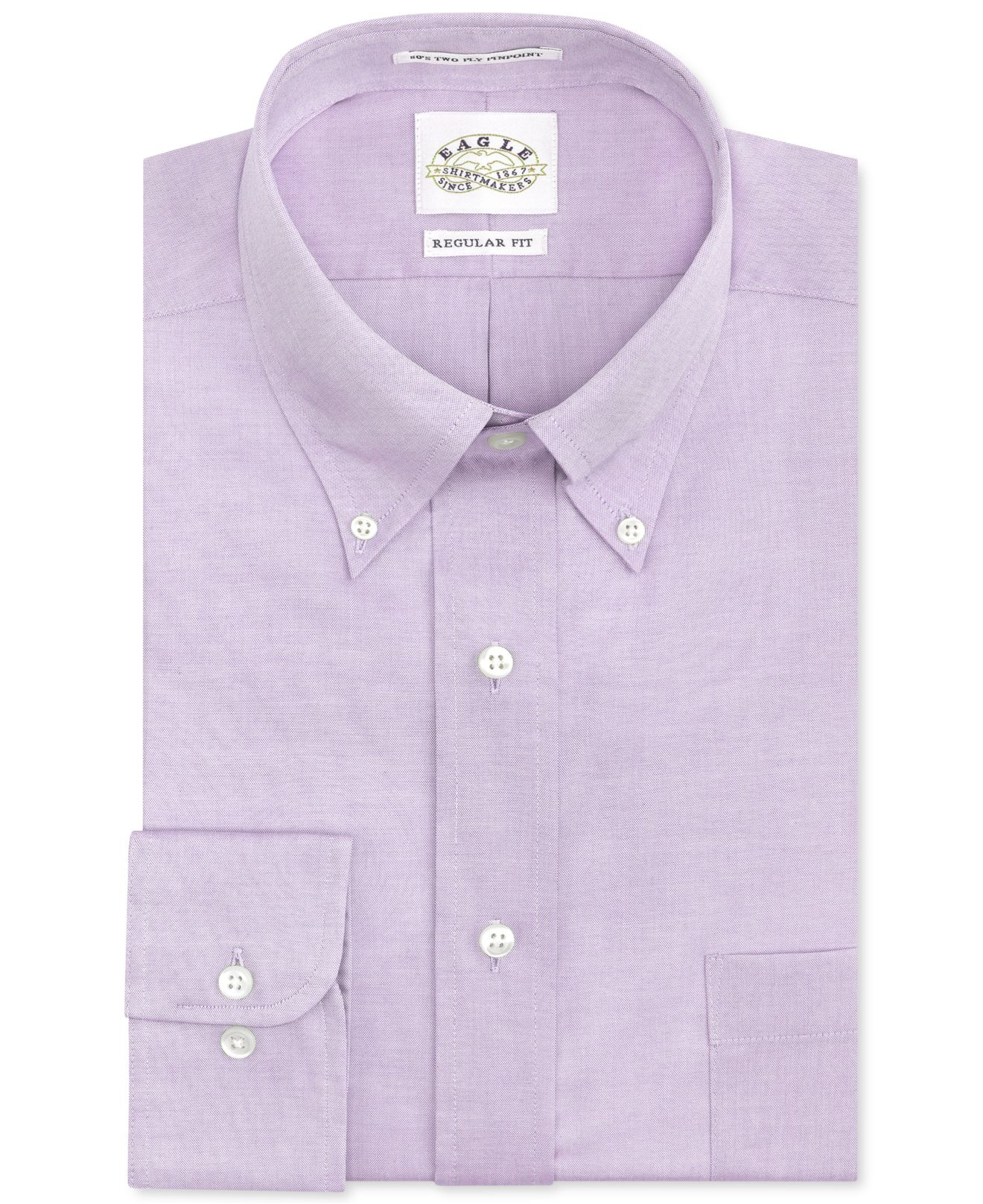 Lyst eagle non iron light purple solid dress shirt in Light purple dress shirt men