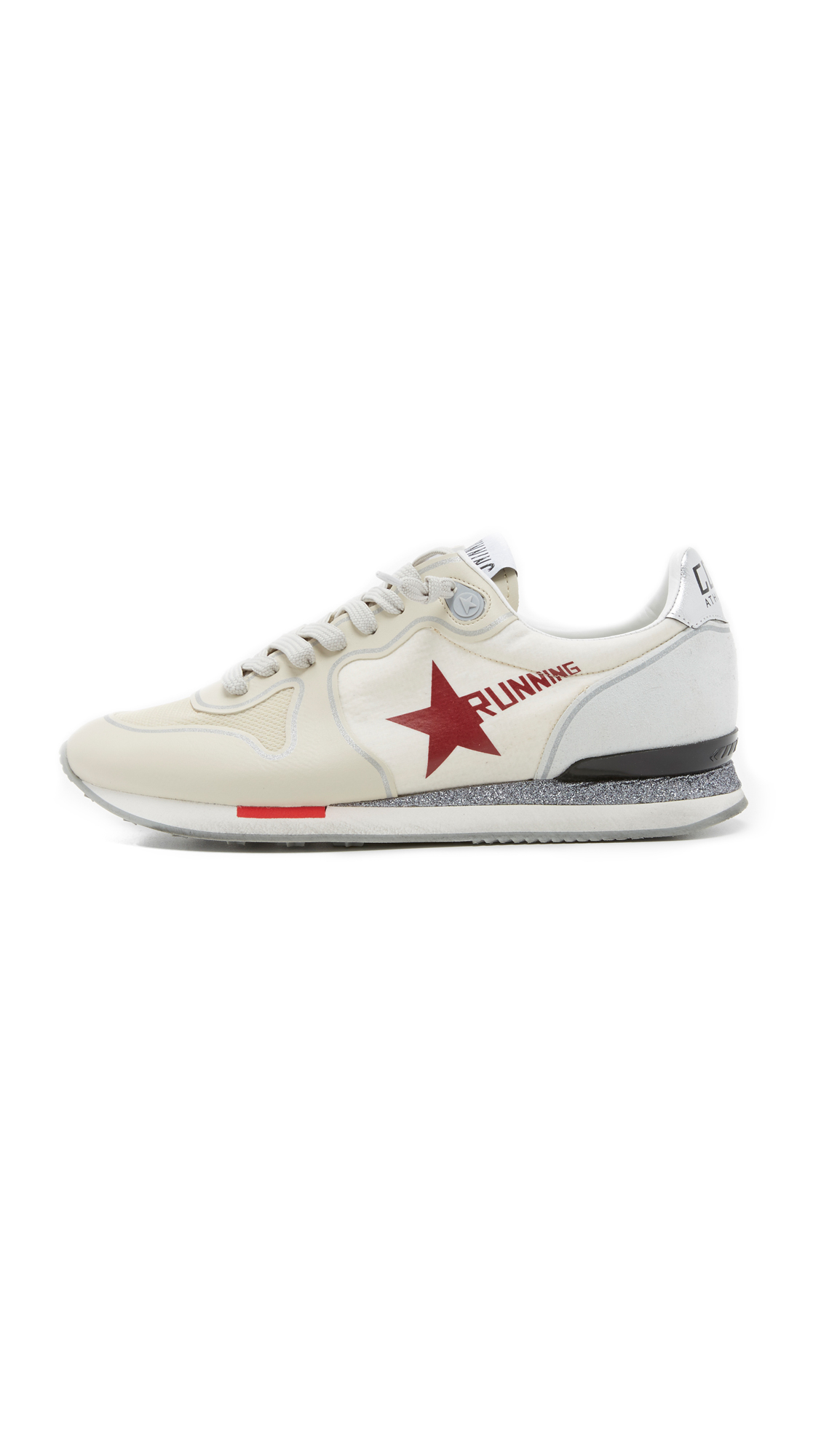 golden goose deluxe brand running sneakers in white lyst. Black Bedroom Furniture Sets. Home Design Ideas