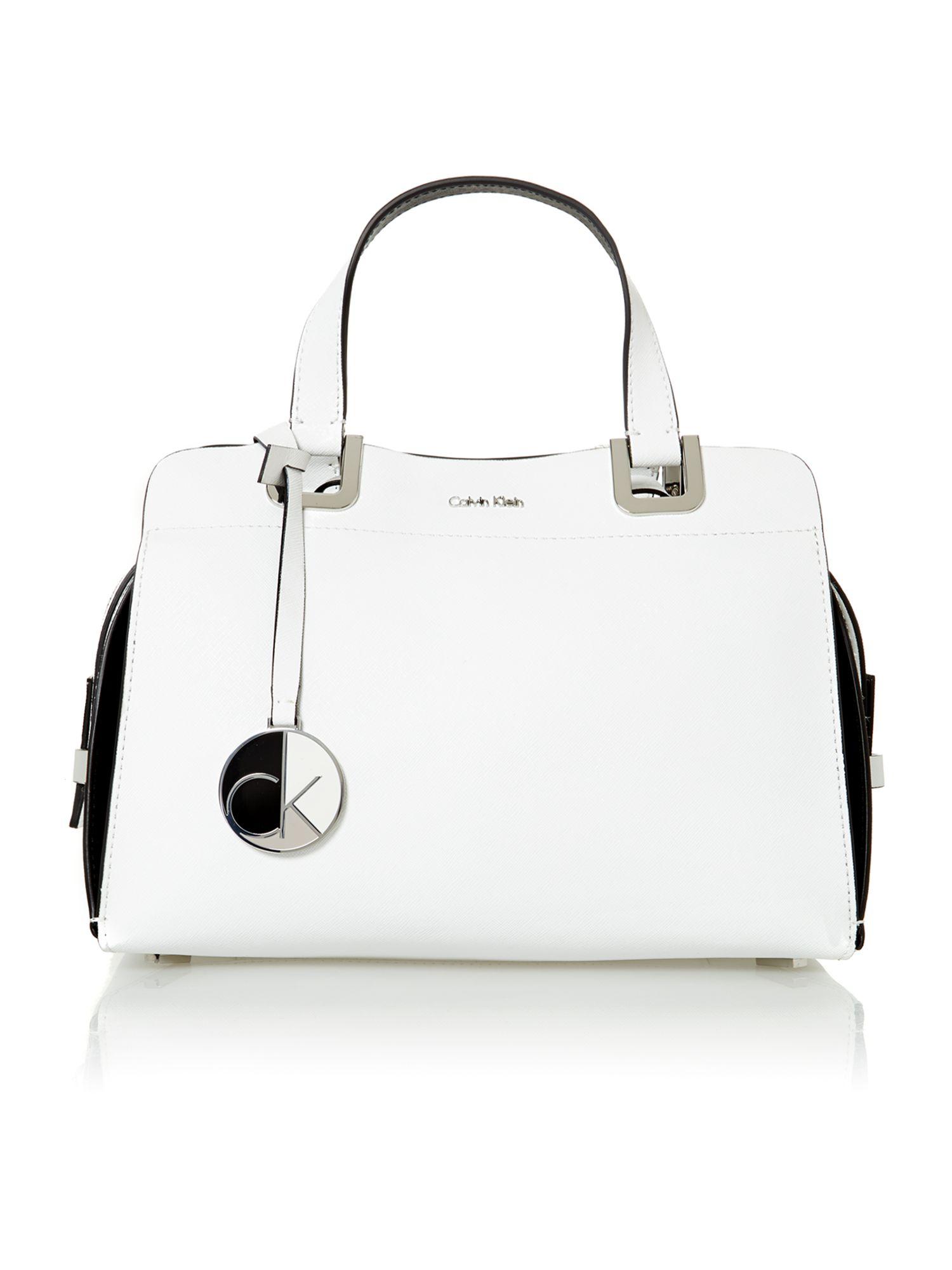 Calvin Klein Sophie White Bowling Bag In Lyst