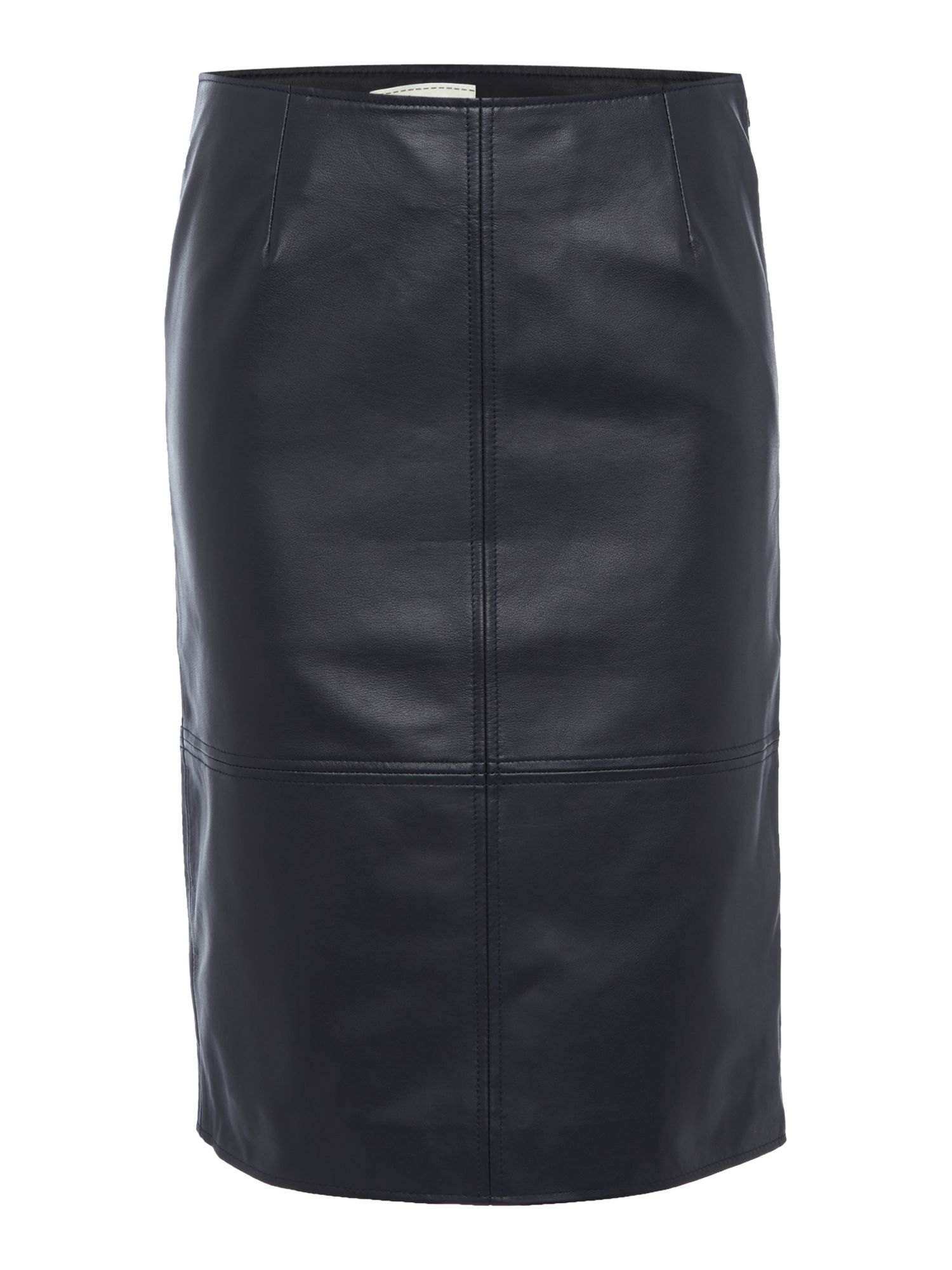 linea leather pencil skirt in blue navy lyst