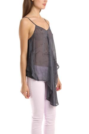 Nicholas K Denim Magee Shirt In Lavender in Grey