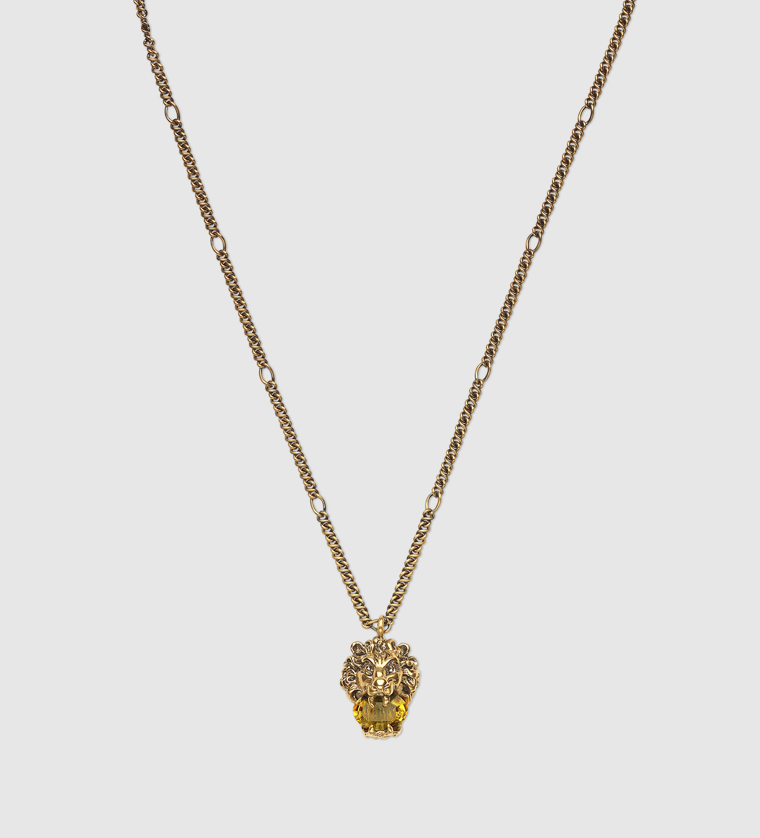 Gucci Lion head necklace with crystal Q1HSoGS