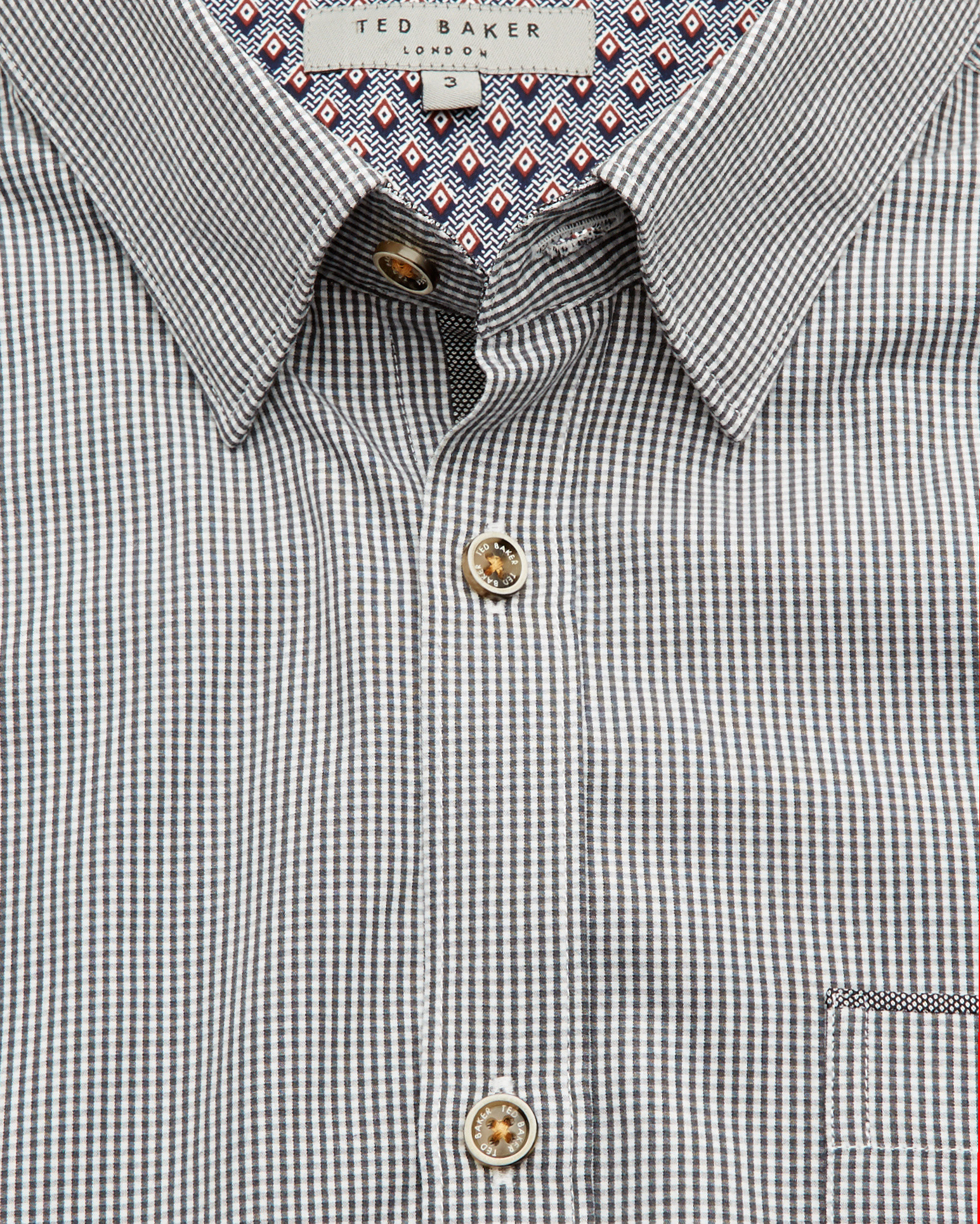 e351ab89c03c50 Lyst - Ted Baker Twosoft Micro Check Shirt in Gray for Men