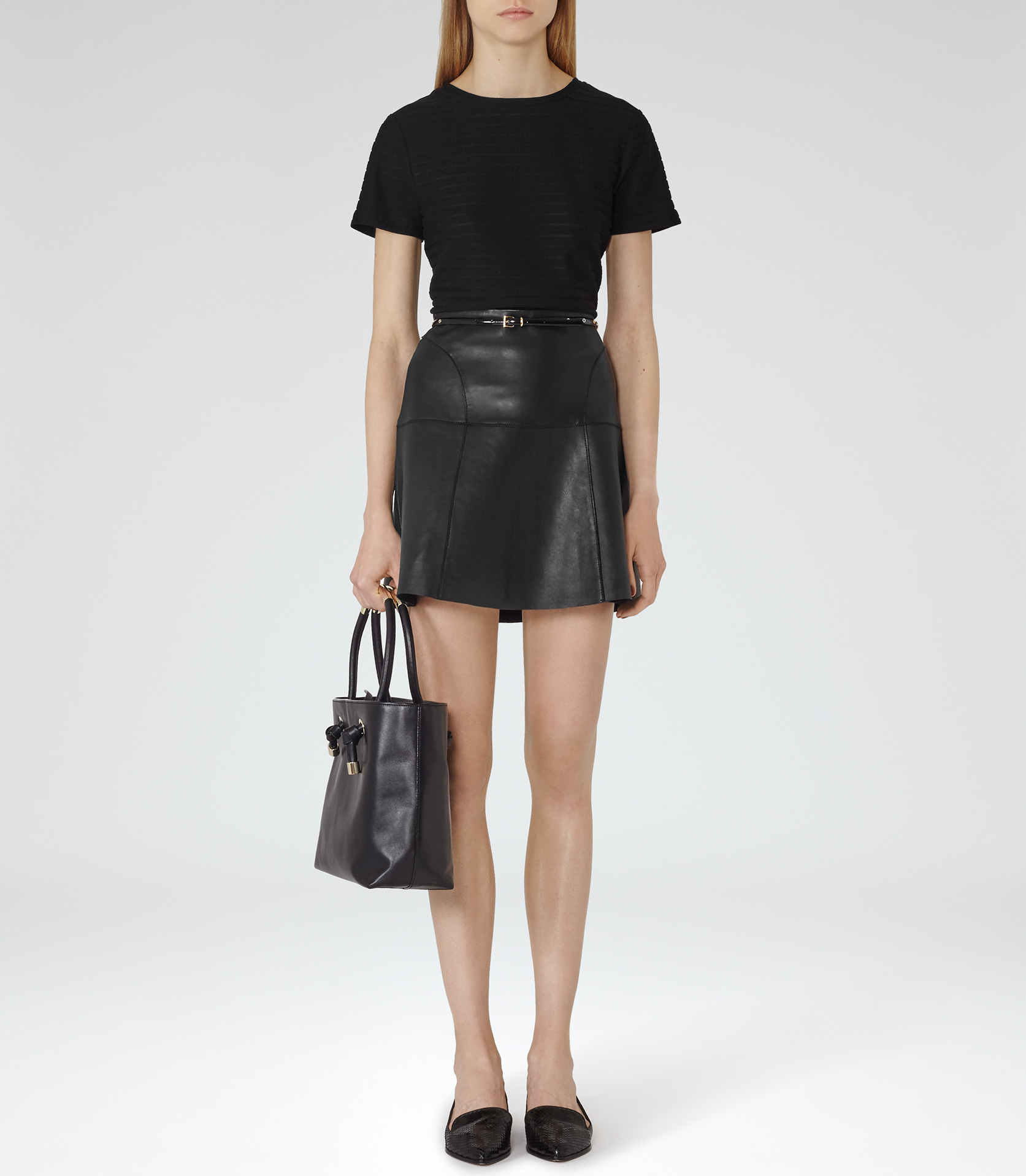 f1c5e8396 ... Boohoo Abi Faux Leather A Line Mini Skirt … Gallery. Women's Leather  Skirts Women's Black Leather Skirts Women's Leather Mini Skirts