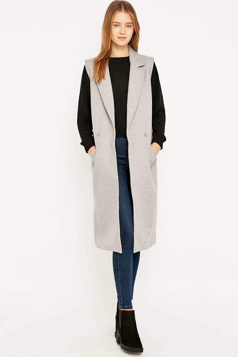 95d5264156bbb The fifth label sleeveless new moon coat in gray lyst jpg 975x1463 Grey  sleeveless coat
