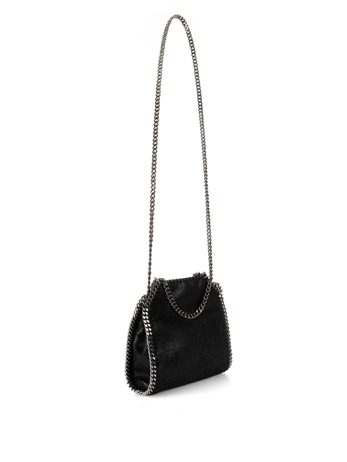 b75b9cac02d Stella McCartney Black Falabella Tiny Faux-Suede Cross-Body Bag