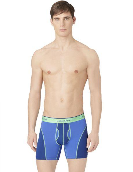 calvin klein athletic boxer briefs in blue for men lyst. Black Bedroom Furniture Sets. Home Design Ideas