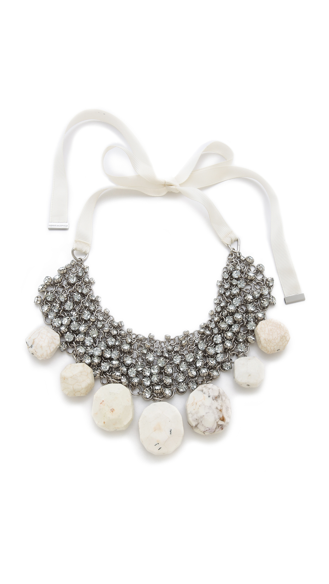 By Malene Birger Olias Necklace in Cream (White)