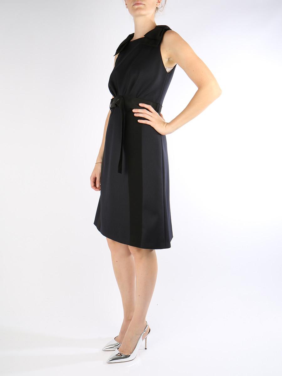 Prada Dress in Blue (Navy+NERO) | Lyst
