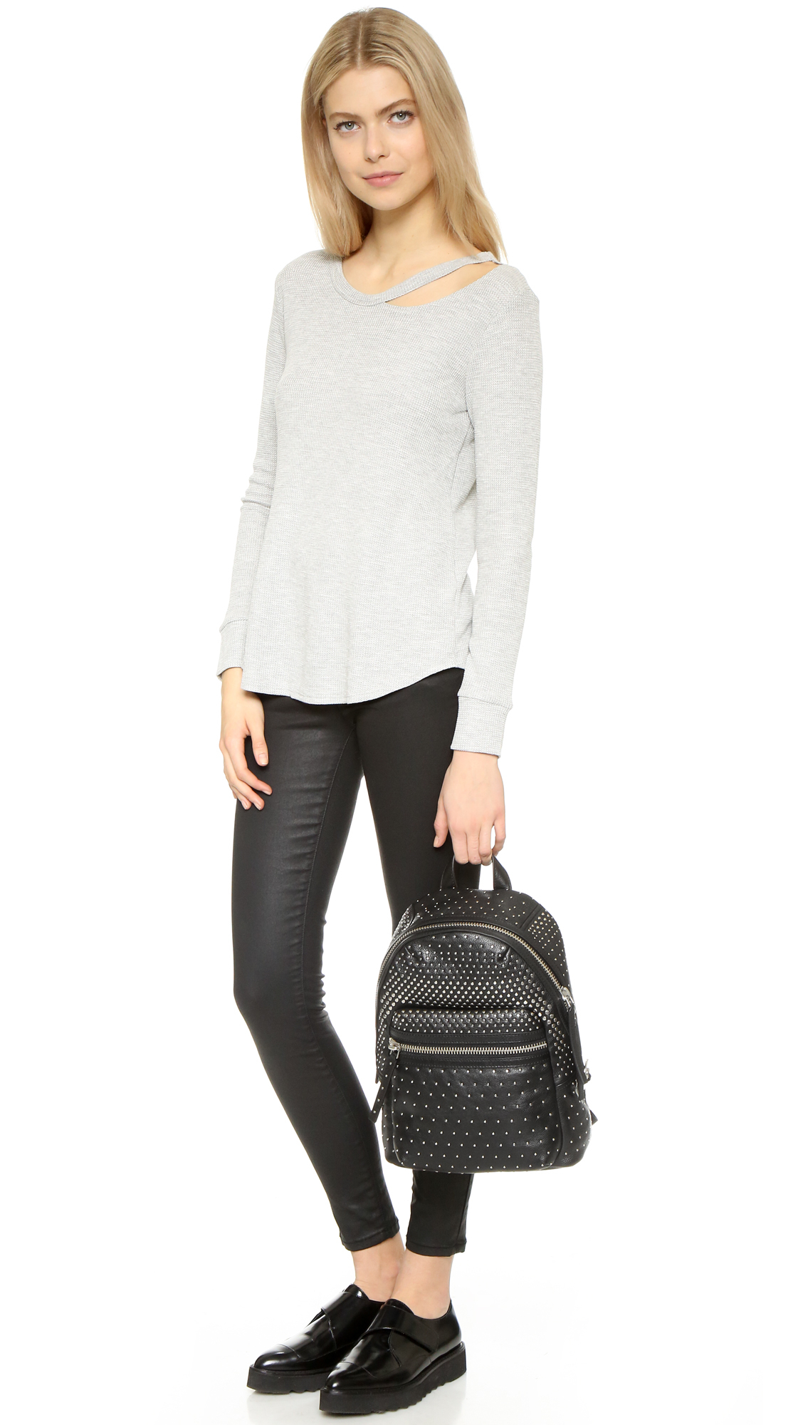 dee70729a46 Marc By Marc Jacobs Domo Biker Degrade-studs Backpack in Black - Lyst