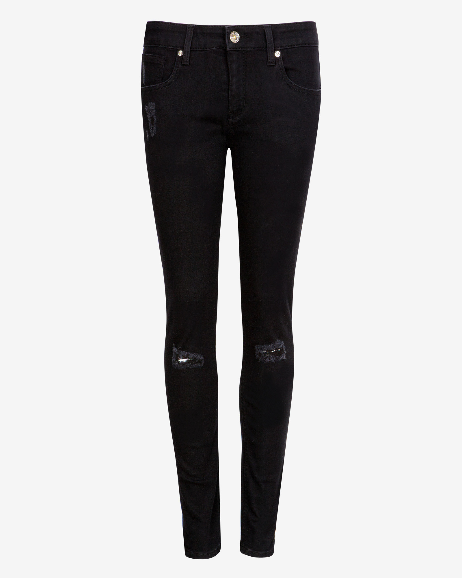 fe9a031b1 Ted Baker Black Distressed Skinny Jeans in Black - Lyst