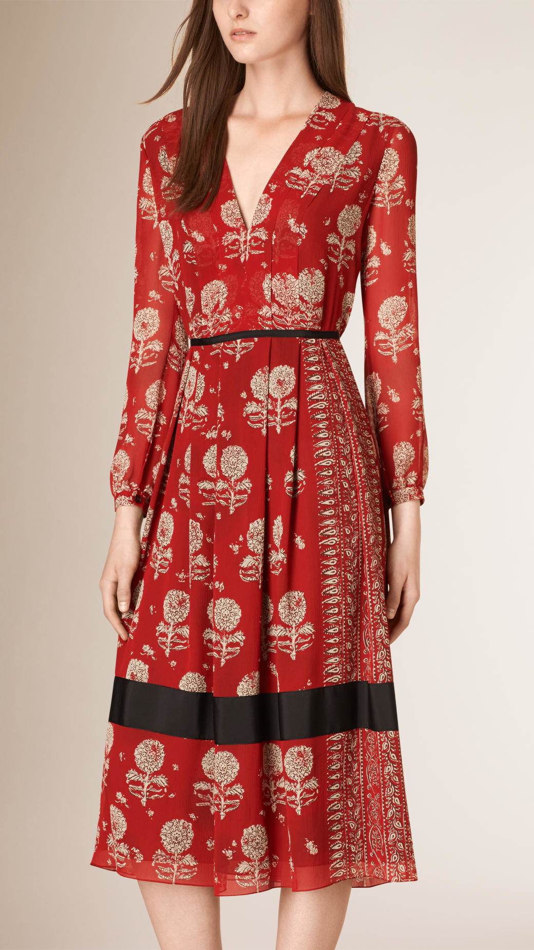 Burberry print dress weddings dresses for Red line printing