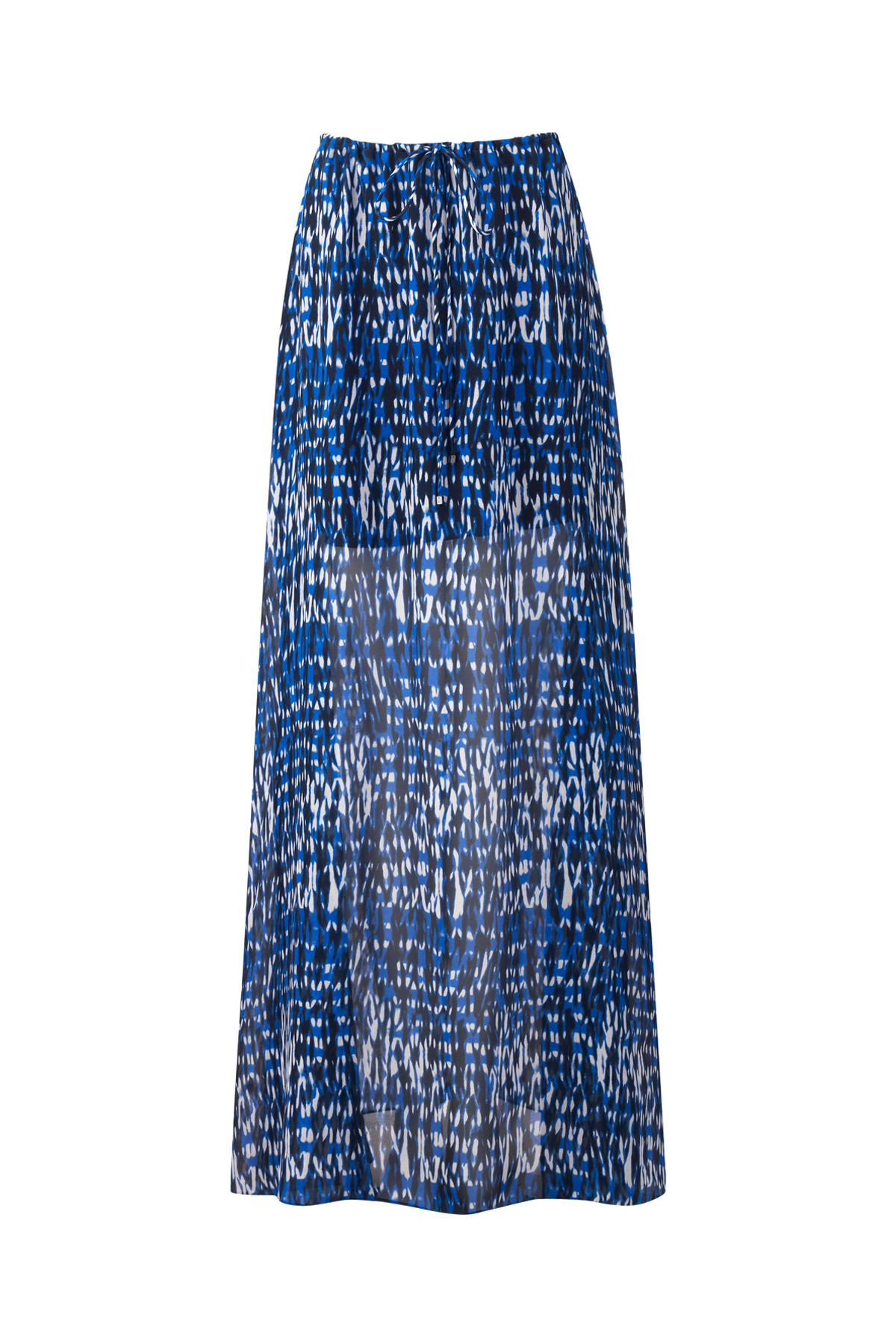 amanda wakeley blue ford silk ripple skirt lyst