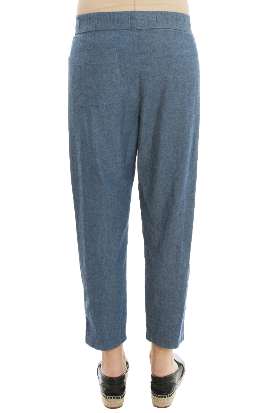 lyst raquel allegra easy chambray jeans in blue