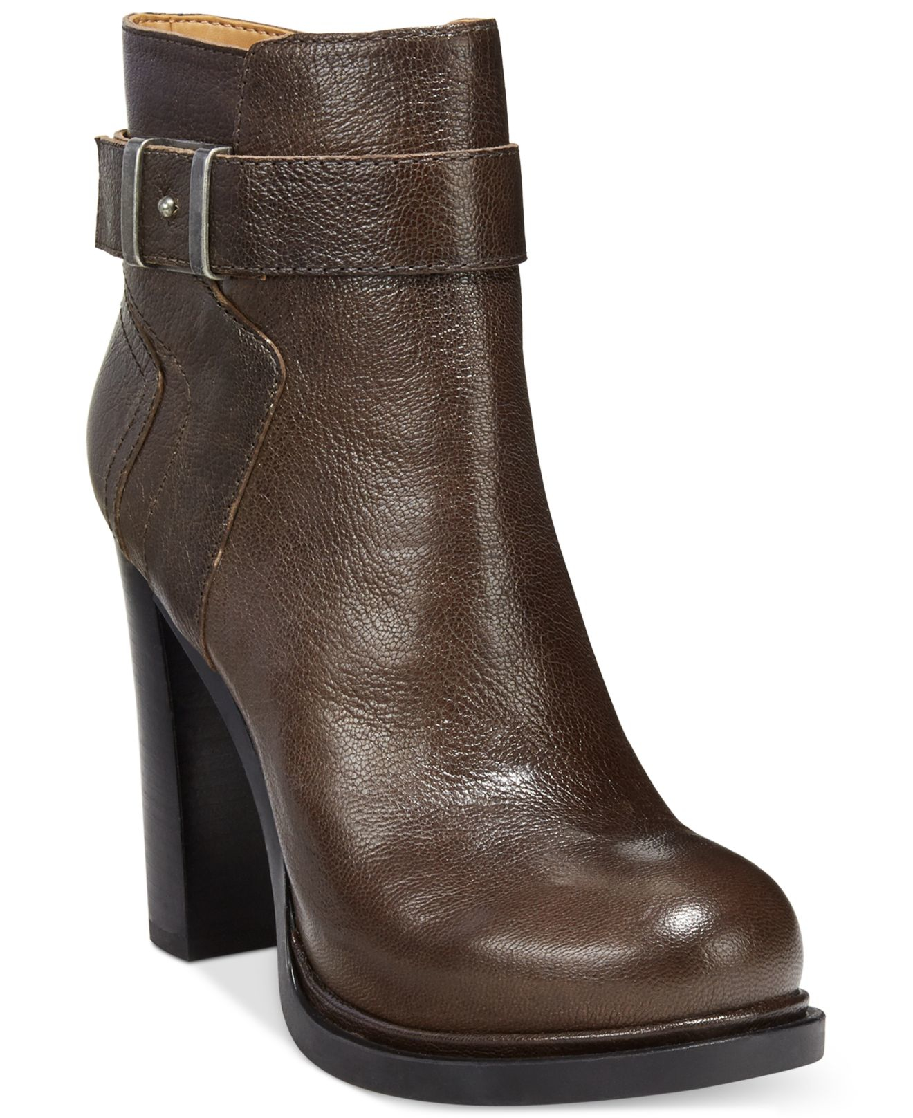 Lyst Nine West Sherbert Booties In Brown