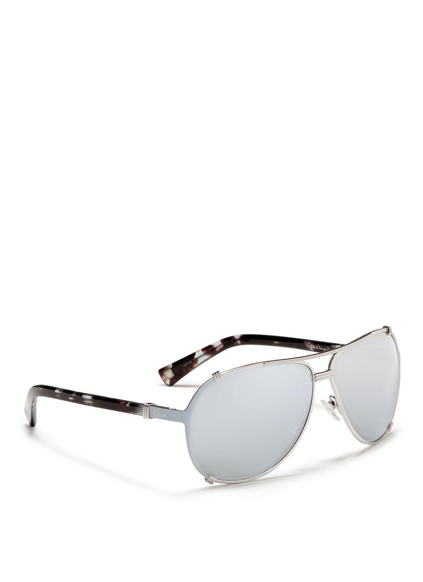 f34cc527f97 Christian Dior Dior Chicago 2 Str Aviator Sunglasses Silver grey ...