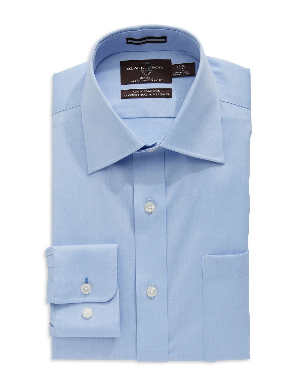 Black brown regular fit dress shirt in blue for men lyst for Black brown mens shirts