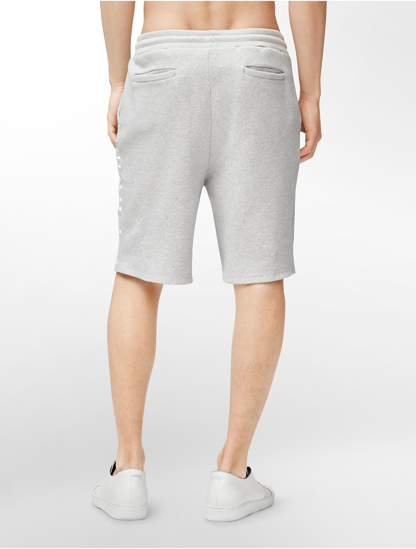 Logo Sweatshort Jogger Calvin For In Men Klein Lyst Gray Jeans Uw1qOHv