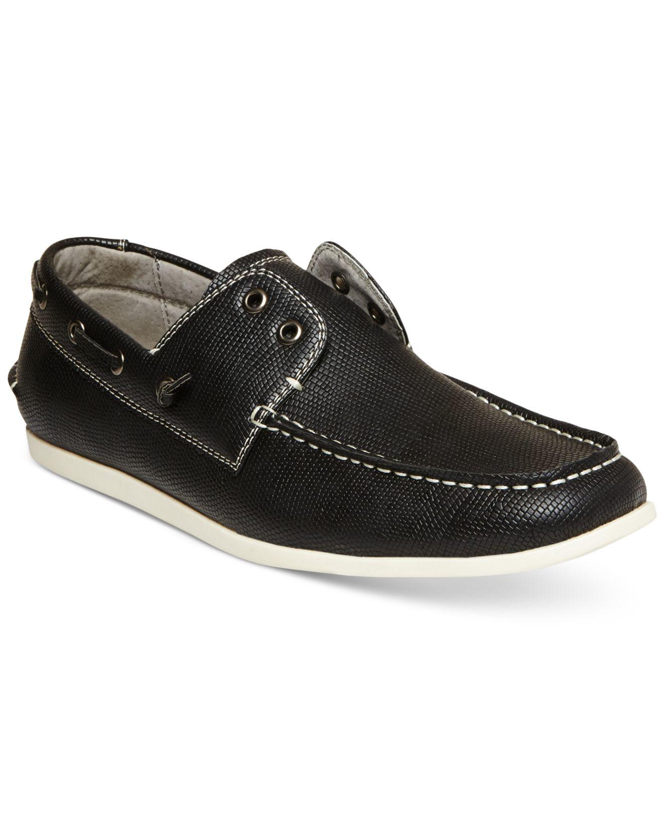 d92eb6ccf94 Steve Madden Black M-games Boat Shoes for men