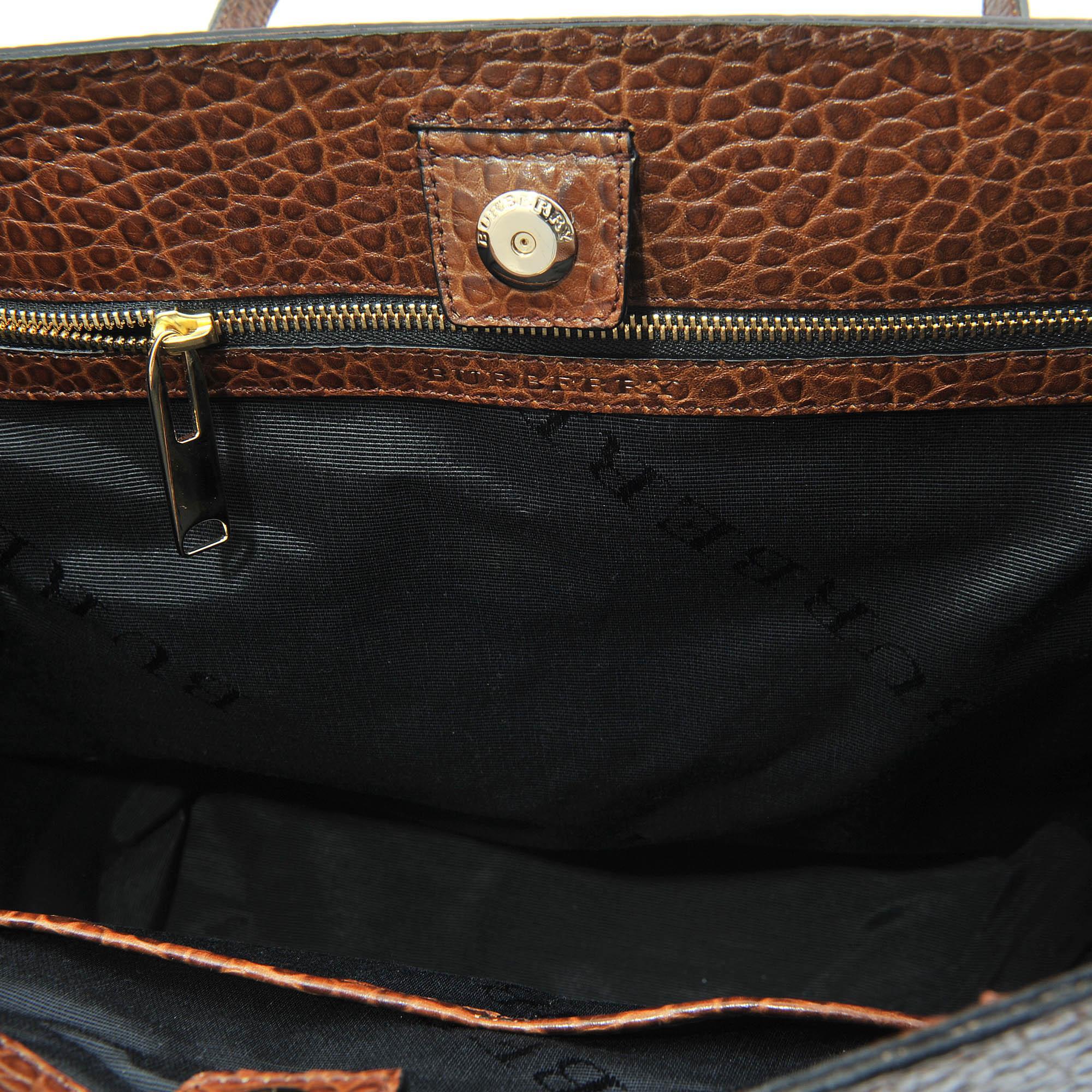 Burberry Medium Woodbury Tote Bag in Brown