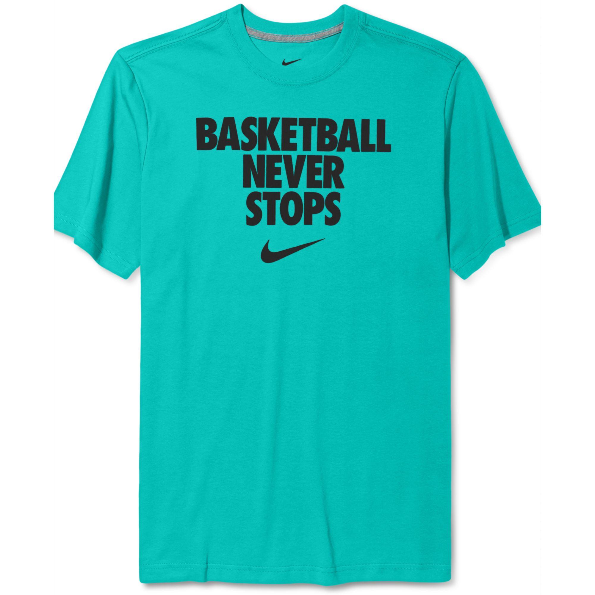 9caee090 Basketball Never Stops T Shirt Nike – EDGE Engineering and ...