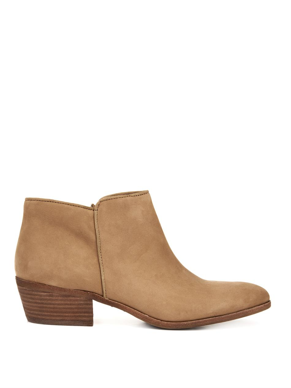 sam edelman petty leather ankle boots in brown lyst