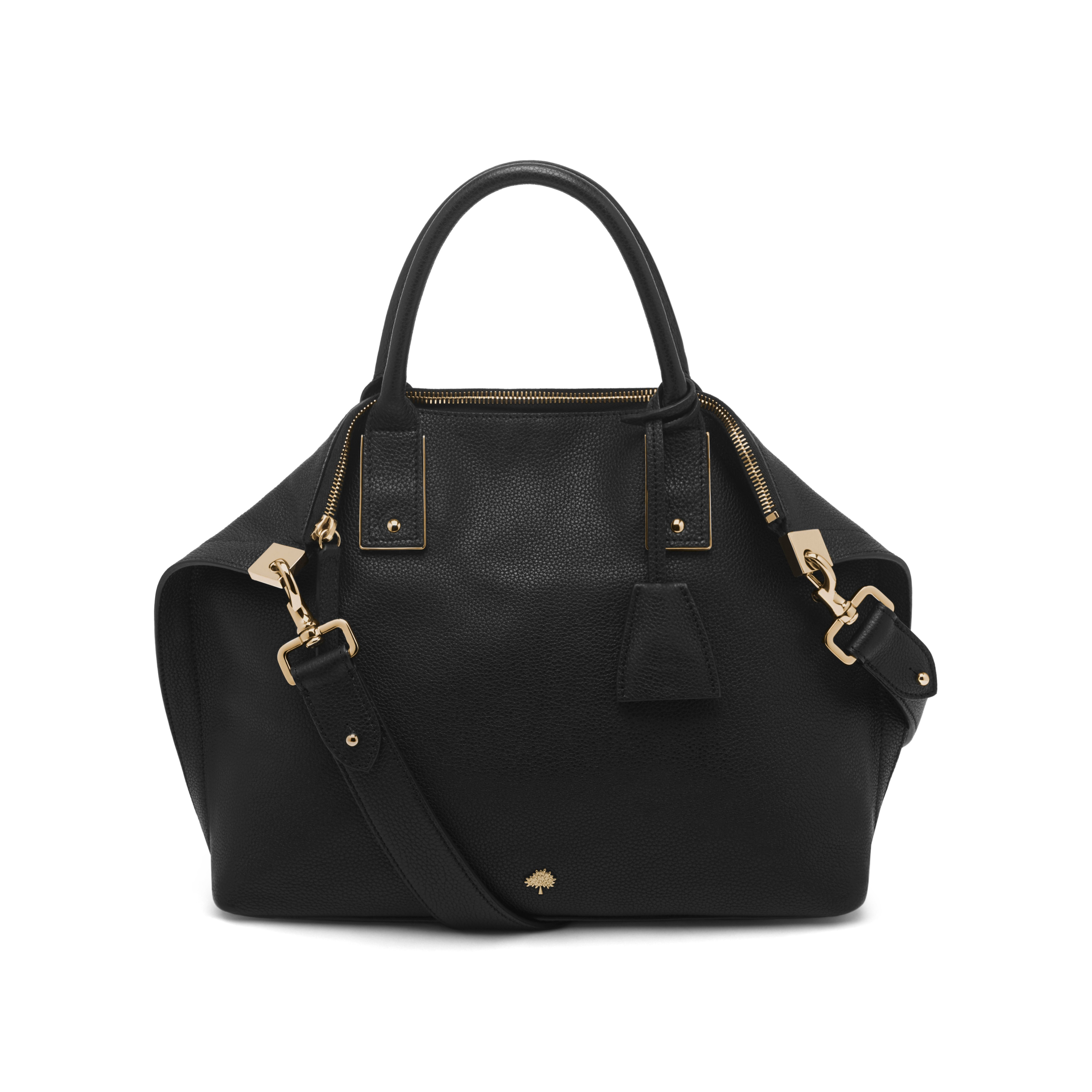 Mulberry Alice Small Leather Shoulder Bag in Black - Lyst 25beb3e45ee4d