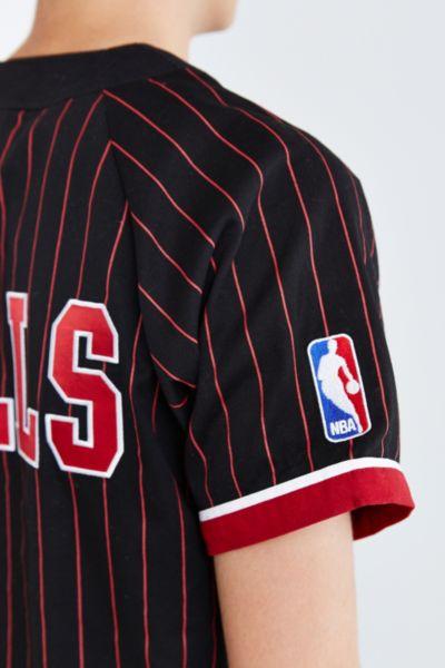 ff89a7ce6 Lyst - Mitchell   Ness Nba Chicago Bulls Baseball Jersey in Black ...