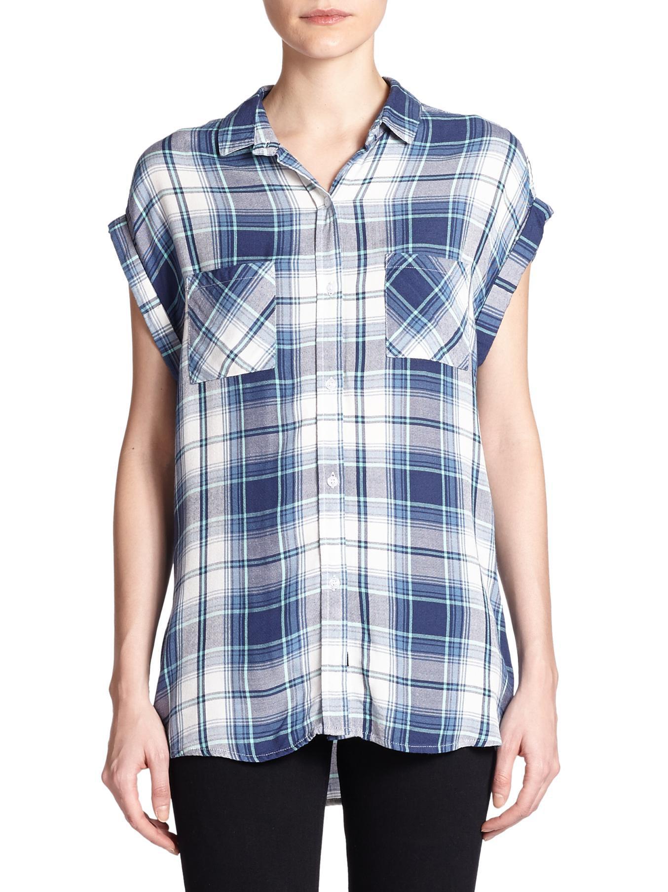 Rails Britt Plaid Shirt In Blue Teal Navy Lyst