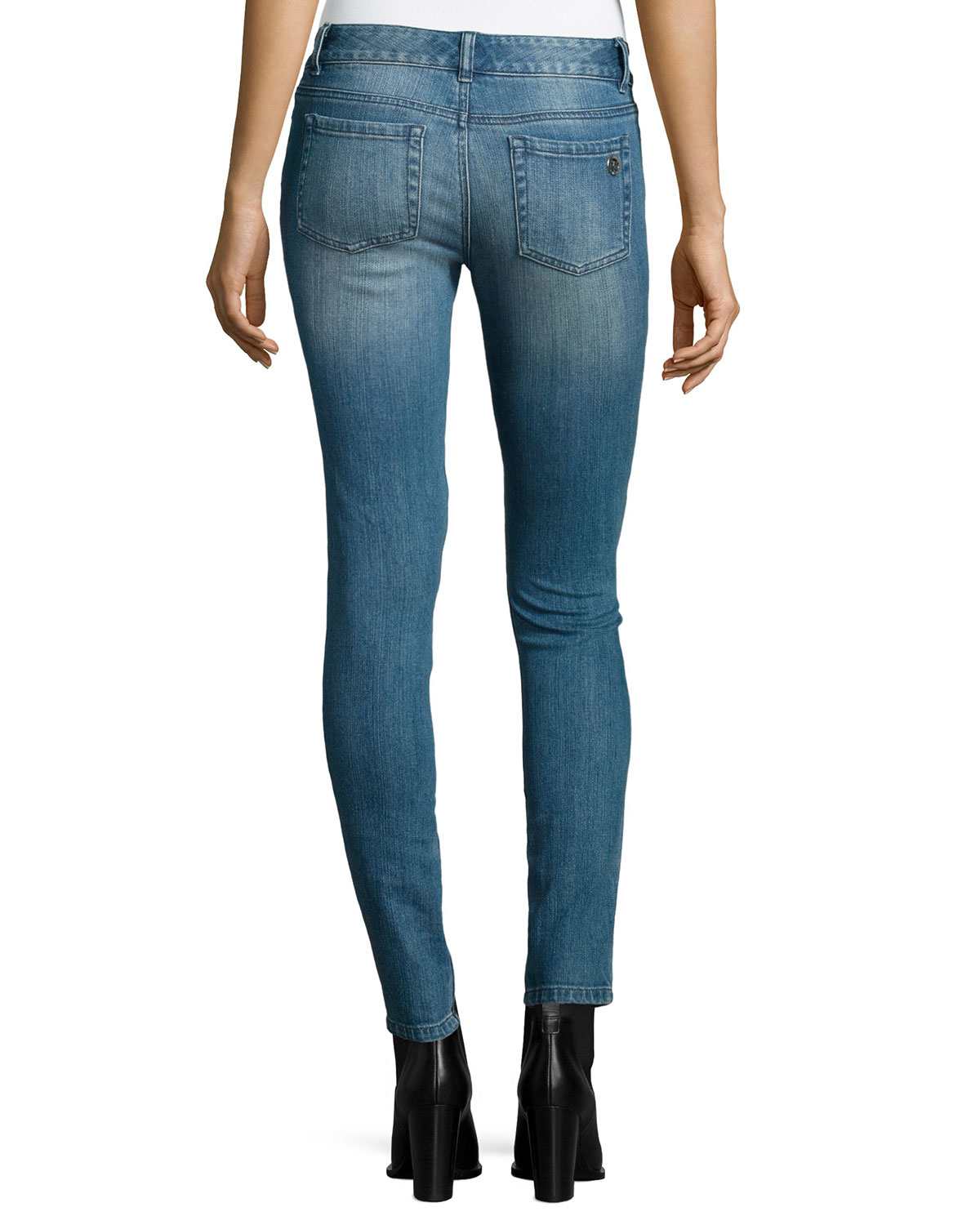 michael michael kors jet set skinny jeans in blue lyst. Black Bedroom Furniture Sets. Home Design Ideas