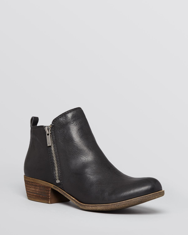 37075c1dd66 Lucky Brand Black Booties - Basel Zipper