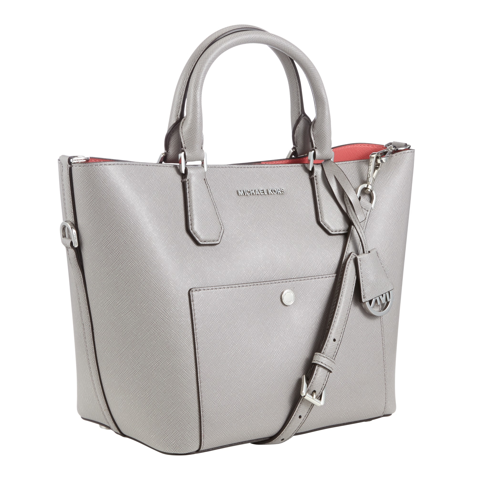 f98a4cc699 ... top quality michael michael kors greenwich large grab bag in gray lyst  5f5bc 0aabf