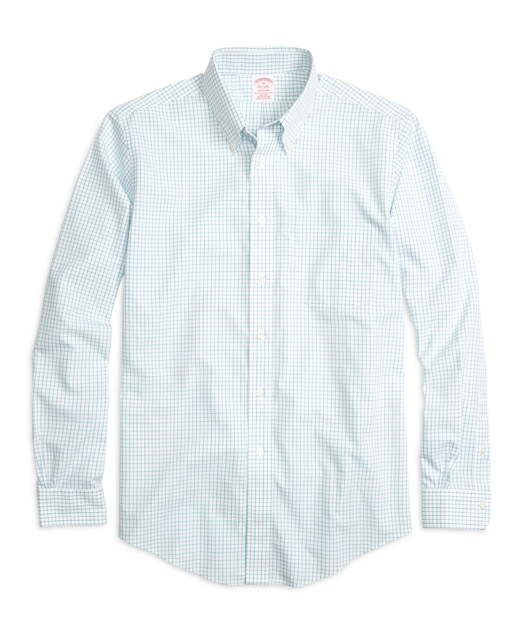 Brooks brothers non iron brookscool regent fit tattersall for Brooks brothers dress shirt fit guide