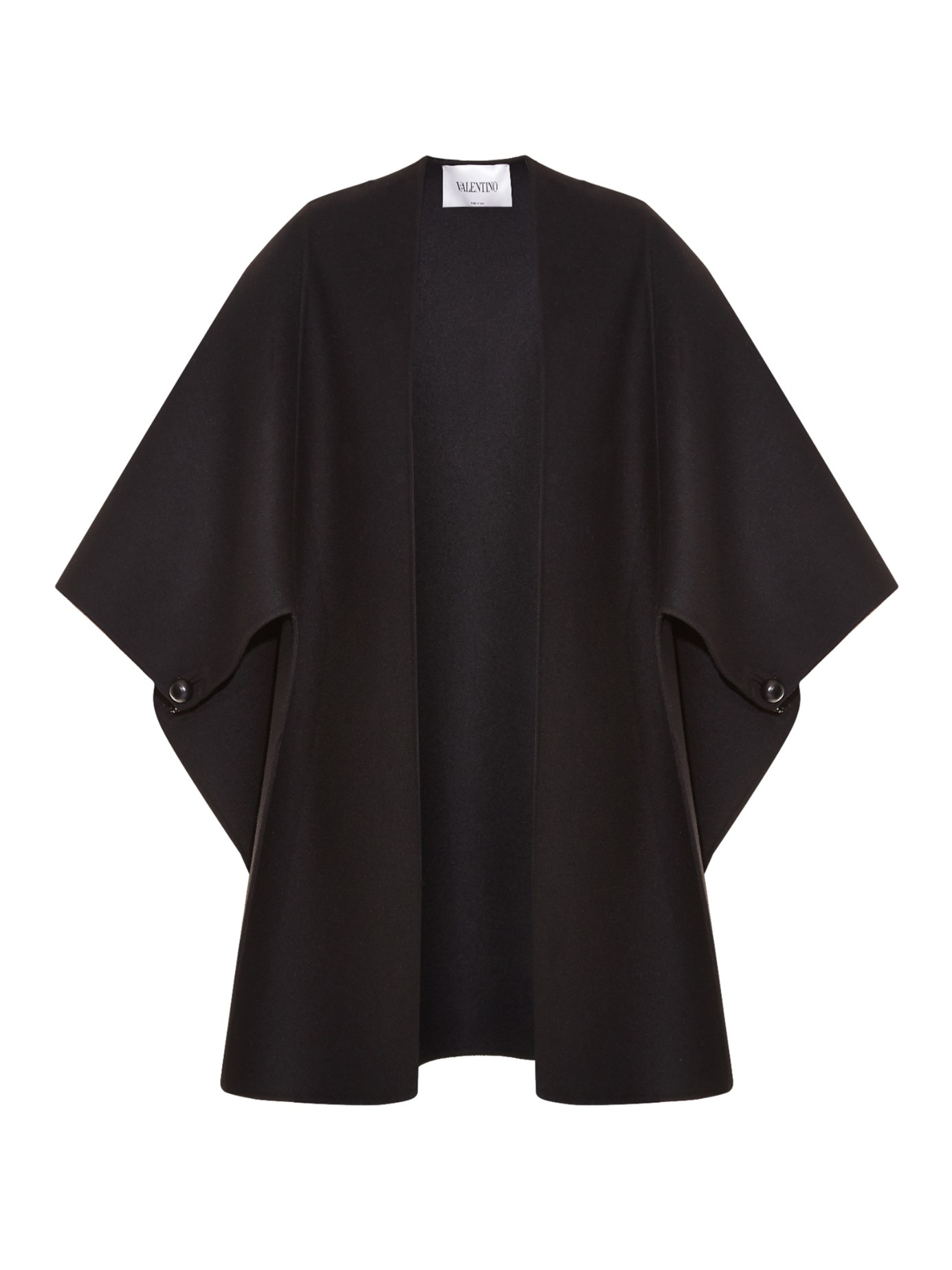 Lyst - Valentino Open-front Cape in Black a92afdbcac09