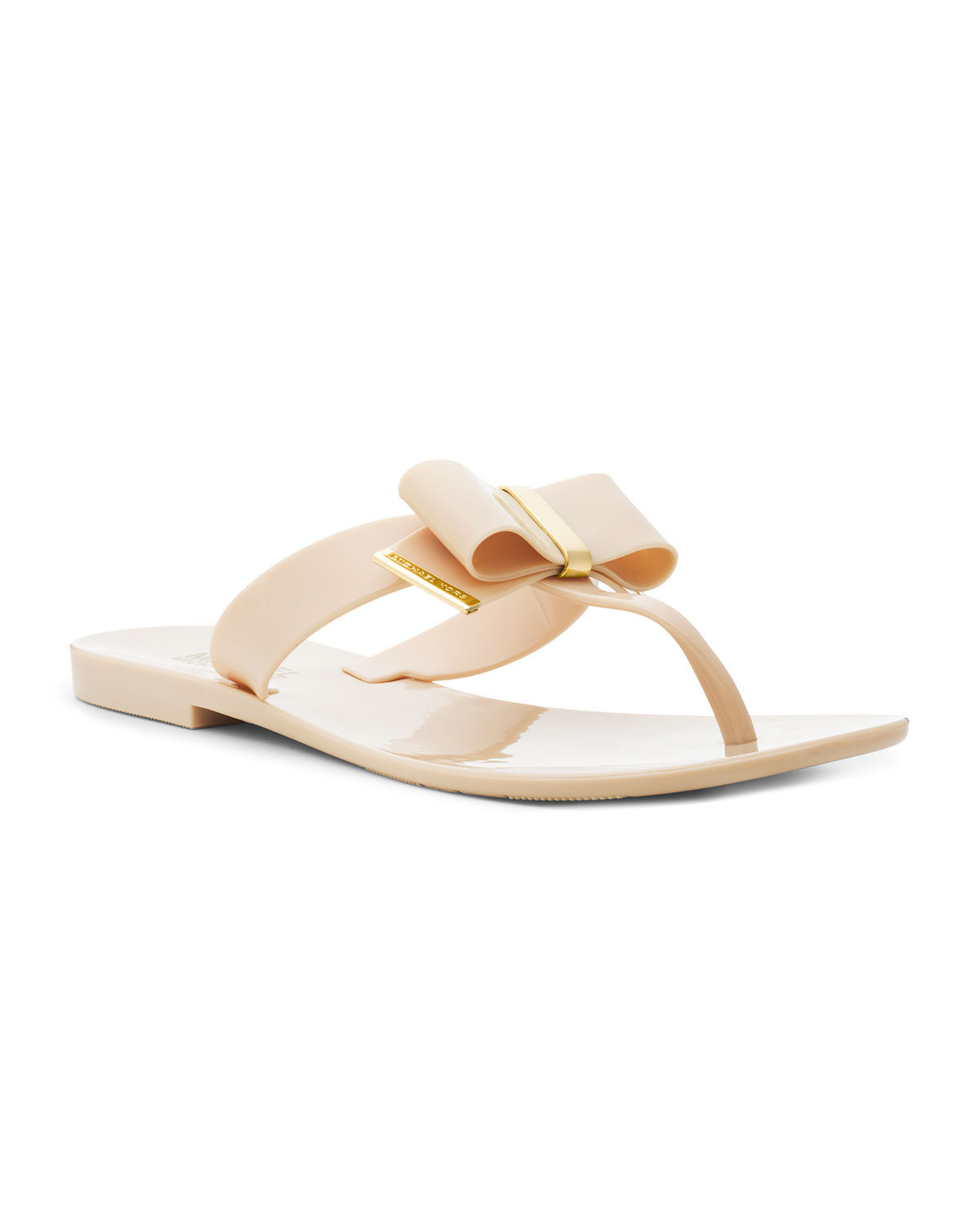 5bd0615a237 Lyst - Michael Kors Kayden Jelly Thong in Natural