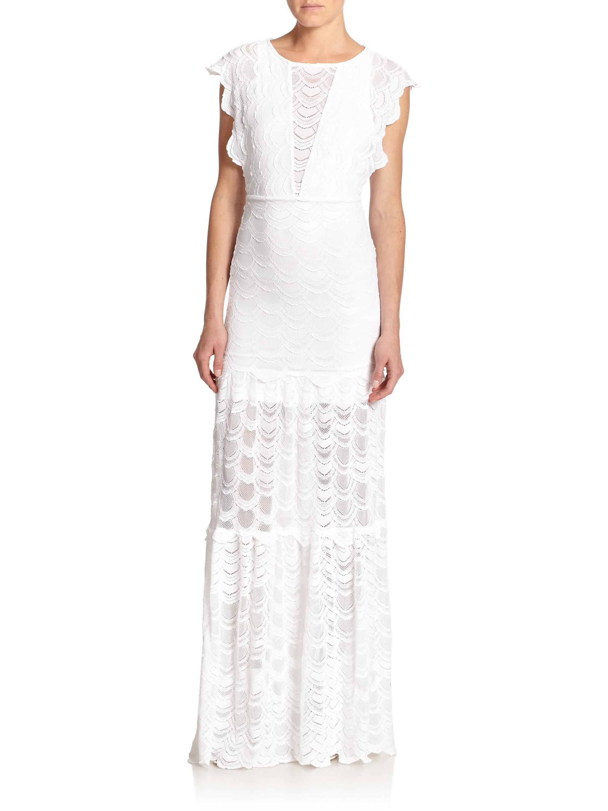 0e36dd0912efa Lyst - Nightcap Coletta Lace Gown in White