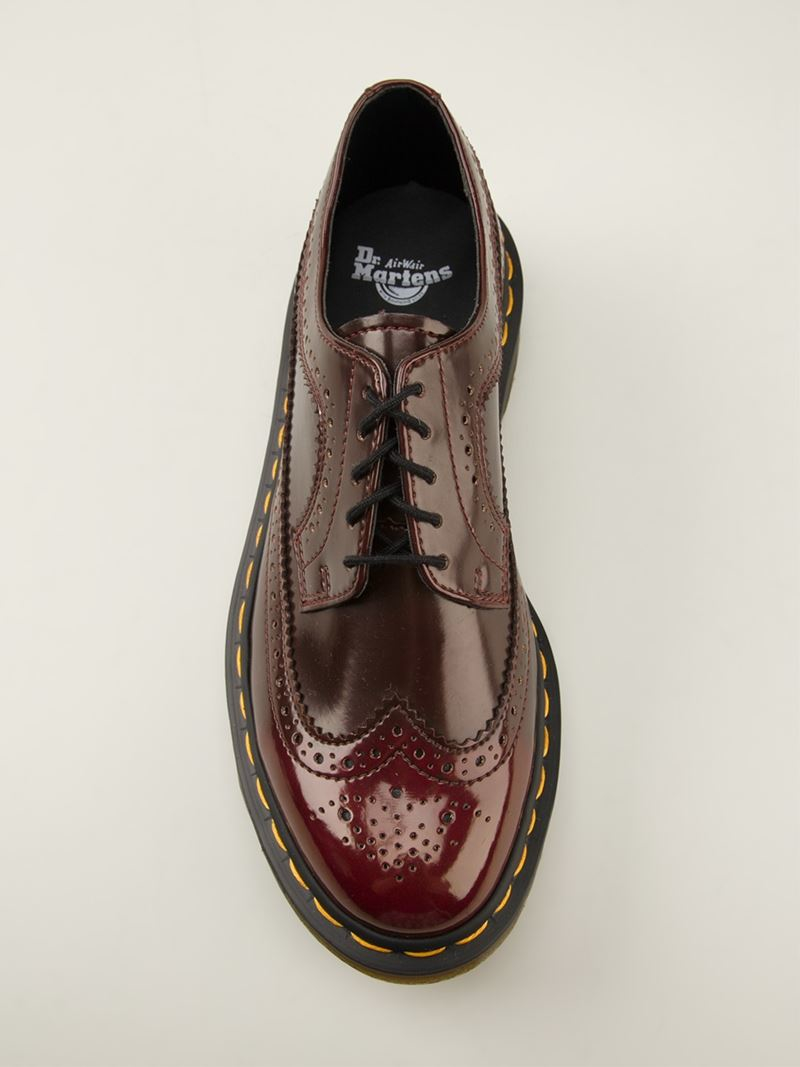 Lyst Dr Martens 3989 Lace Up Boots In Red