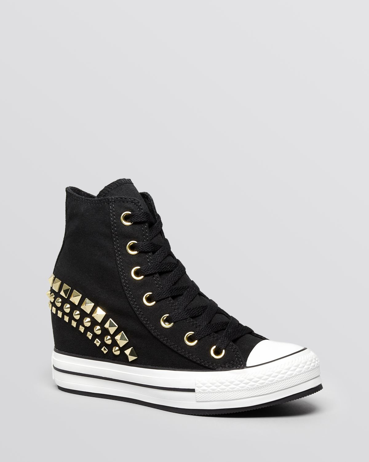 Lyst - Converse Lace Up High Top Wedge Sneakers All Star Platform ... 26c8173759