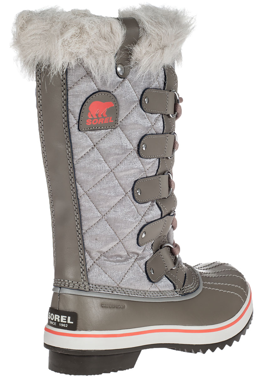 Lyst Sorel Tofino Quilted Water Resistant Boots In Gray