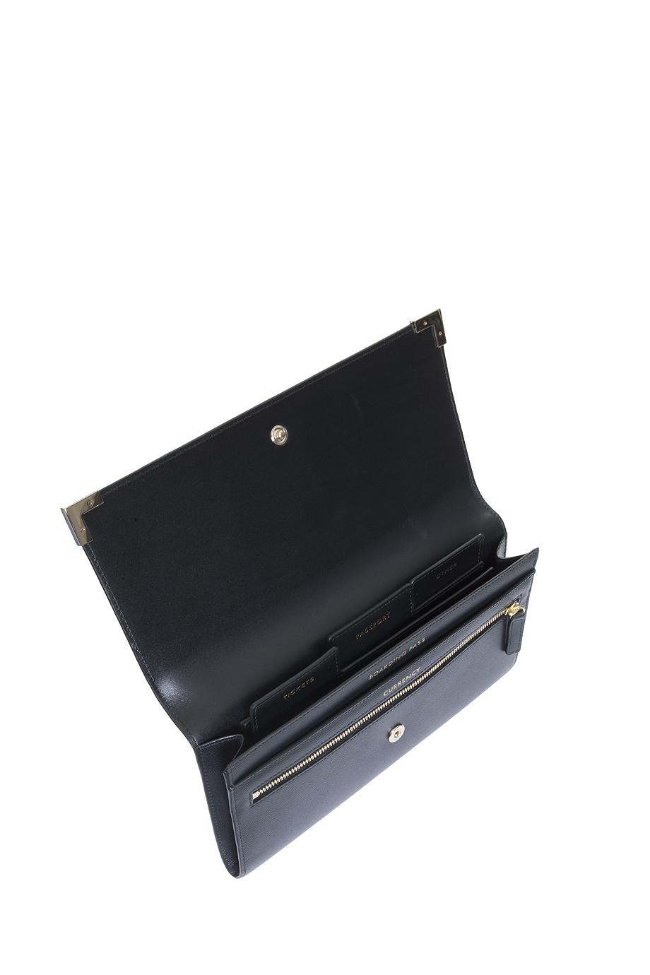 Lyst Smythson Marshall Travel Wallet In Black