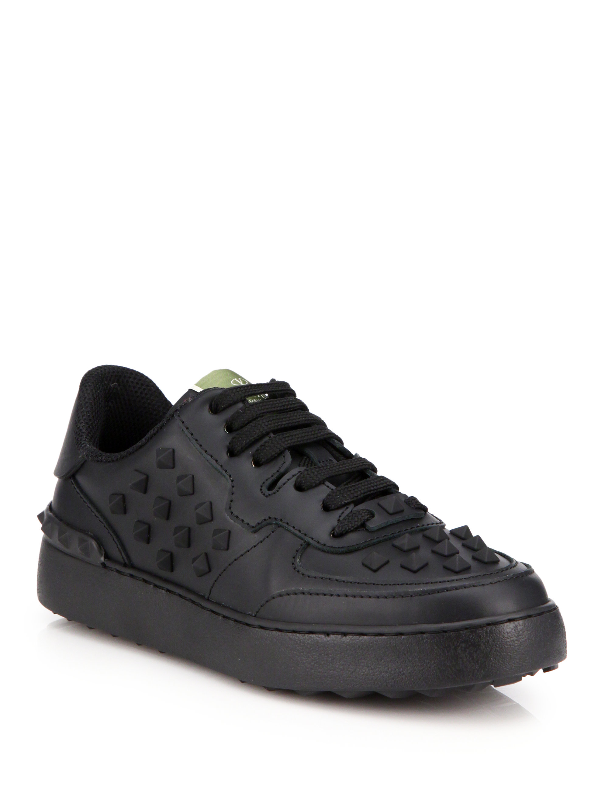 Valentino Rockstud Leather Trainers zw5rDypeFv