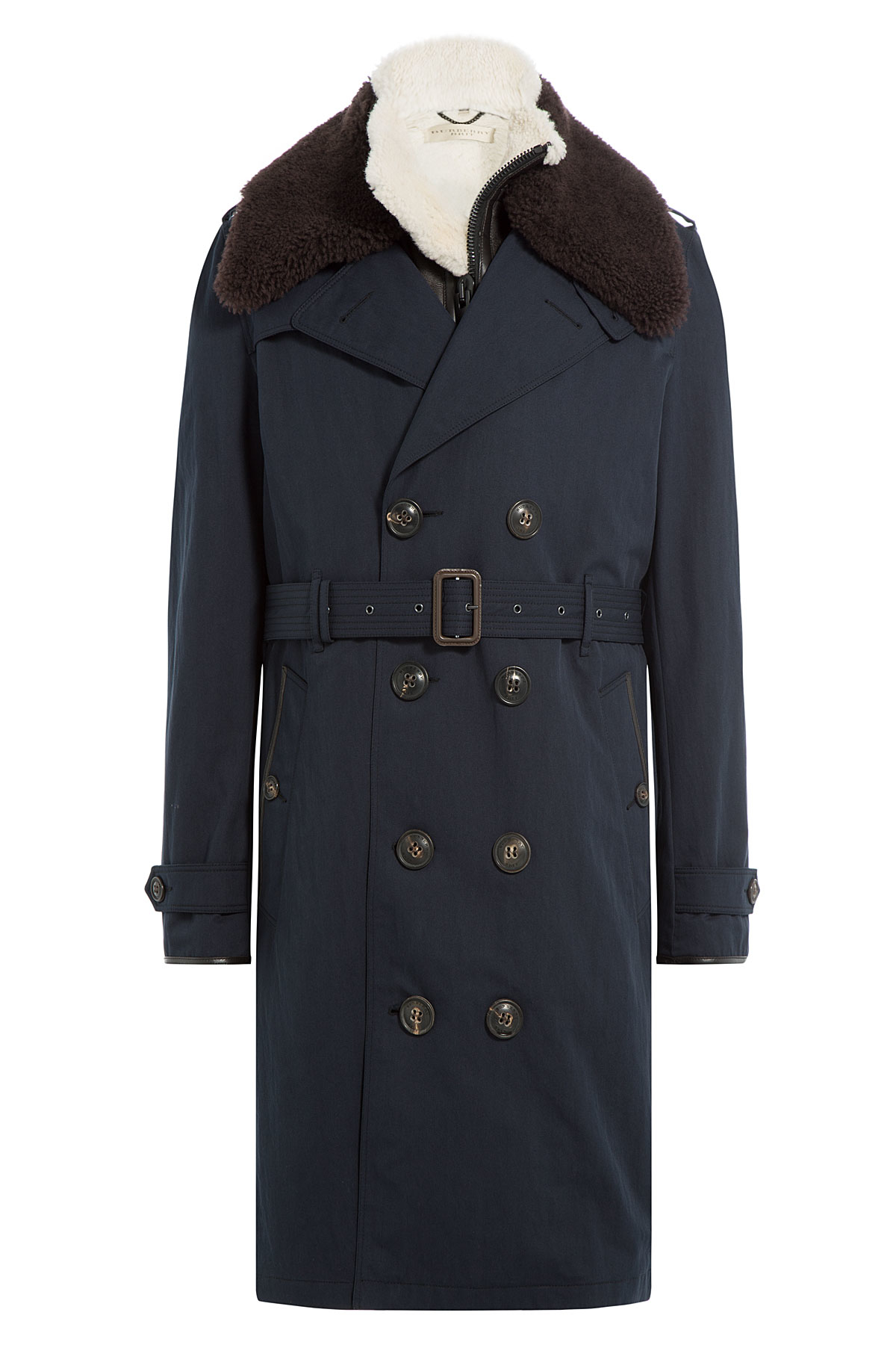 burberry brit trench coat with shearling multicolor in. Black Bedroom Furniture Sets. Home Design Ideas