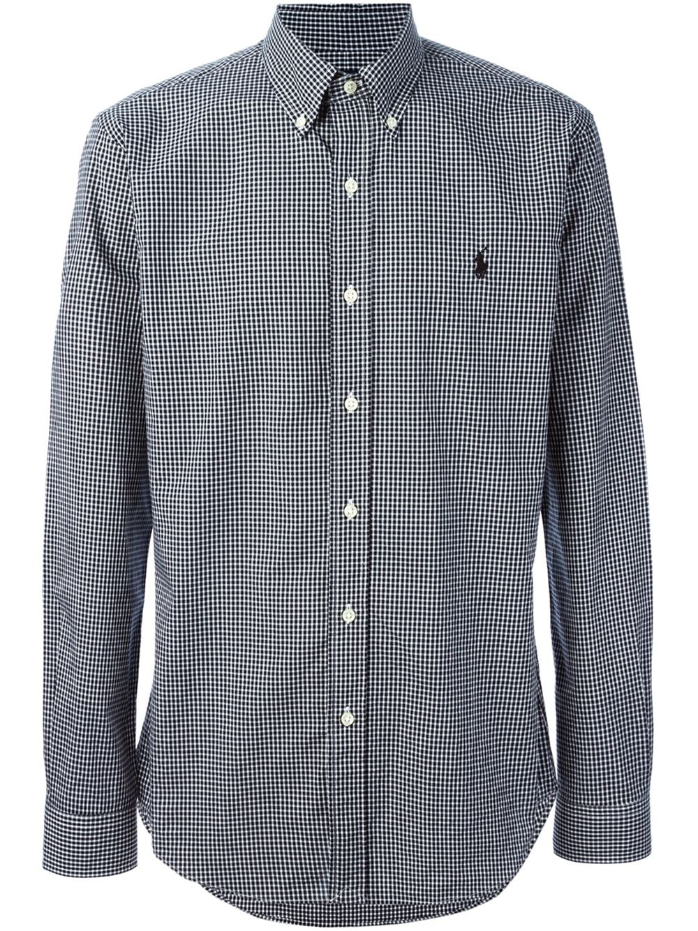 Polo ralph lauren Gingham Button Down Shirt in Black for Men | Lyst