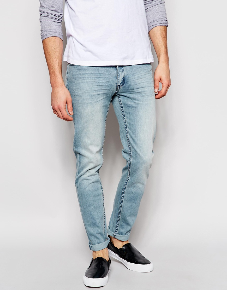 8a638a5f73e Cheap Monday Jeans High Slim Fit Awe Light Wash in Blue for Men - Lyst