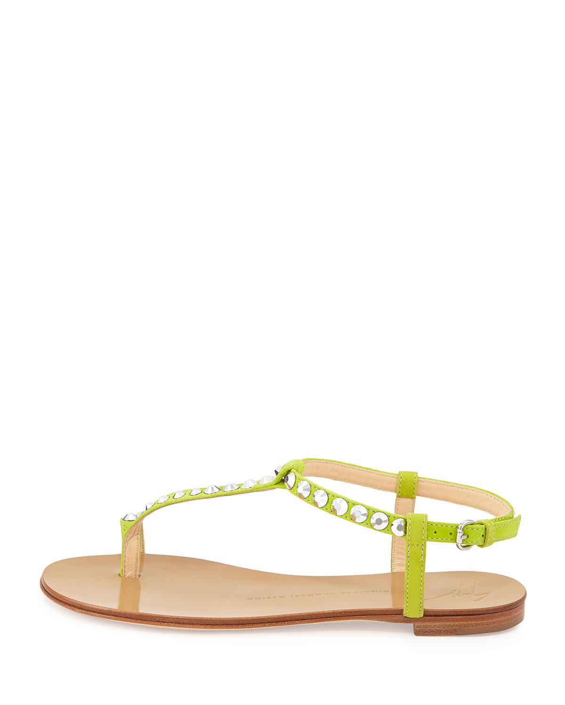 Giuseppe Zanotti Rhinestone Embellished Flat Sandal In