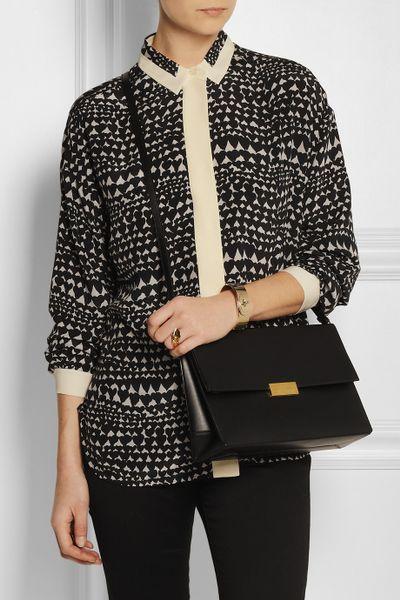 Black Faux Leather Shoulder Bag 72