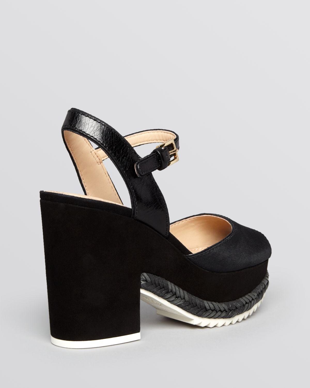 burch open toe platform sandals brie in black lyst